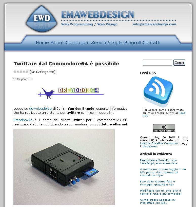 emawebdesign versione 1.0